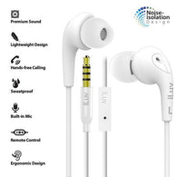 iLuv Bubble Gum 3 In-Earphones w/ Mic & Noise Isolation - White
