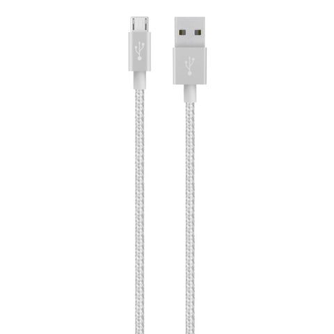 Belkin MIXIT - USB cable - 5 pin Micro-USB Type B (M) to USB (M) - 4FT - SILVER