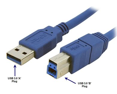 USB Cable 3.0 A-B - 6ft