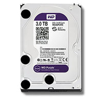 WD Purple 3TB Surveillance Hard Drive 5400 RPM SATA 6 Gb/s 64MB