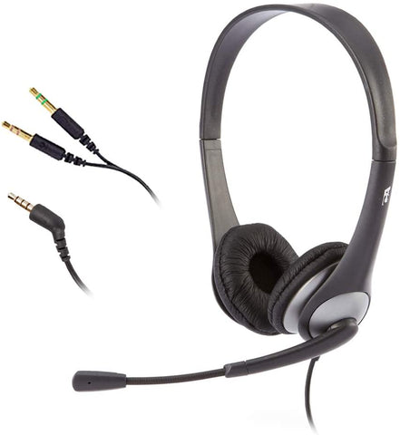 Cyber Acoustics Stereo Headsets w/ Noise Cancelling Microphone & Y-Adapter