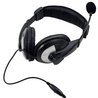 iMicro  Wired 3.5 mm Leather Headset w/ Microphone