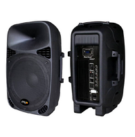 "MYO  Two Way Active Black Loudspeakers 15"" Sub/BT/SD Card"