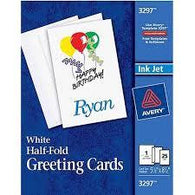 Avery 3297 Half Fold Greeting Cards 25 Sheets