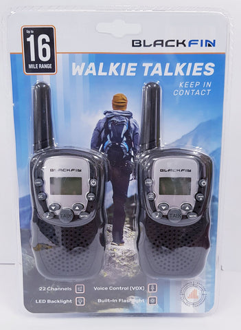 BlackFin Walkie Talkie - Up to 16 Mile Range