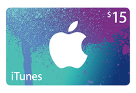iTunes $15 Gift Cards