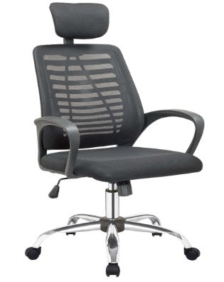 Sit M310 Manager Chair, Mesh Fabric Adjustable Headrest & Armrest