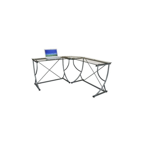 Sit Tempered Glass Large Combination Desk