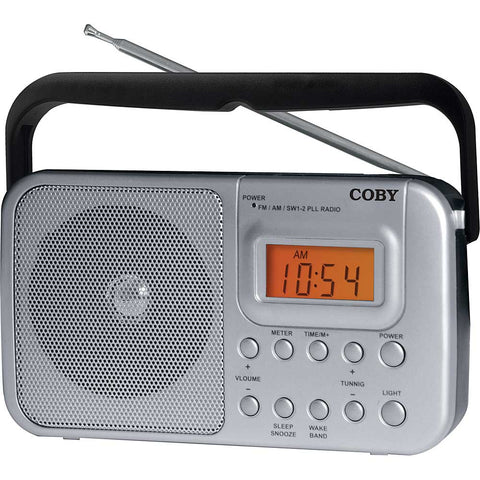 Coby AM/FM Shortwave Radio - Silver