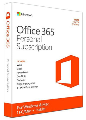 MS Office 365 Personal | 1 YR Annual Subscription license (Download)