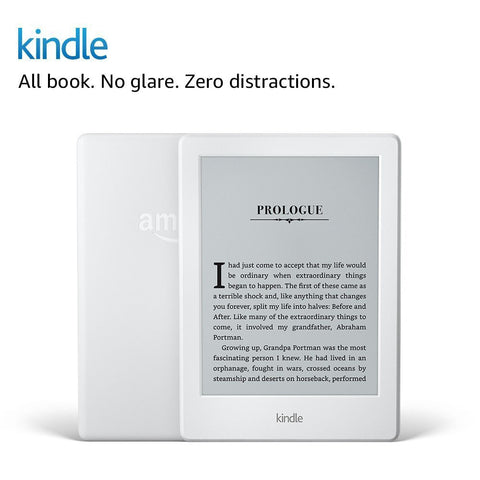 "Kindle E-reader - White 6"" Glare-Free Touch Display Wi-Fi - Includes Special Offers"