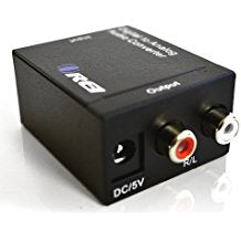 DA9 Digital Optical Coaxial to Analog RCA L/R Audio Convert