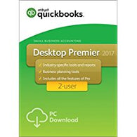 QuickBooks Desktop Premier 2017 with Industry Editions Small Business Accounting Software 2-User US Download
