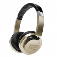 KlipX AkoustikFX High Performance Headphones w/ in-line command capsule 3.5mm - Gold (KHS-851GD)