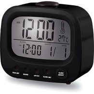 Coby Retro Alarm Clock - Black