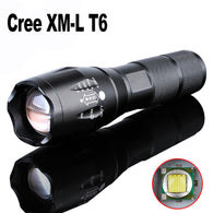 2000 Lumens LED Mini Zoomable Flashlight Torch light lamp with charger/18650 rechargeable battery