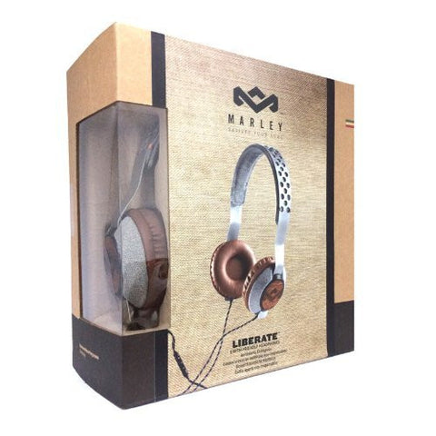House of  Marley Unisex Saddle Denim Headphones w/Mic - 4FT