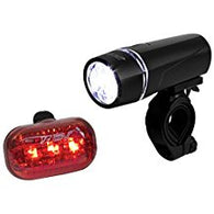 BV Bicycle Light Set Super Bright 5 LED Headlight, 3 LED Taillight