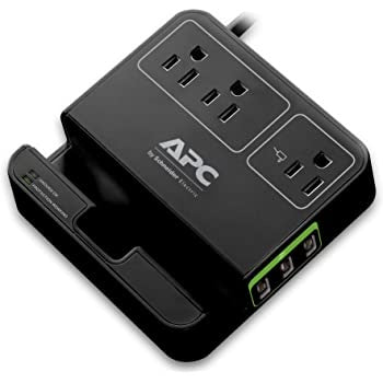 APC Essential SurgeArrest - 3 Outlets & 3 USB Charging Ports