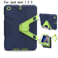 Heavy Duty Shockproof Rubber iPad Mini 1/2/3 Case - Assorted Colours