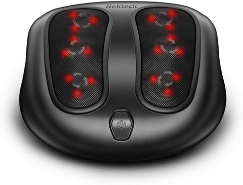 Nekteck  Shiatsu Heated Electric Kneading Foot Massager Machine for Planter Fasciitis, Built in Infrared Heat Function