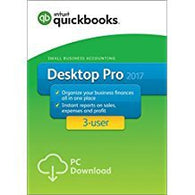 QuickBooks Desktop Pro 2017 Small Business Accounting Software 3-User - US Download
