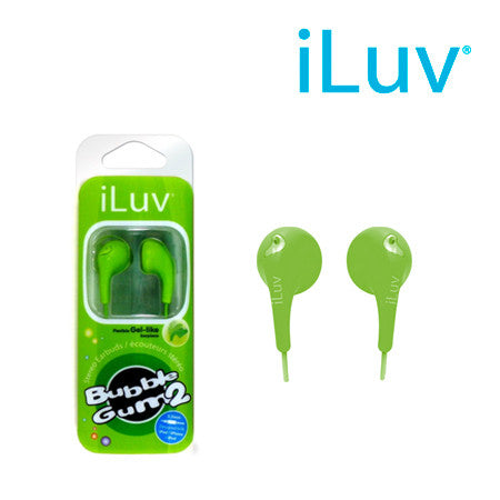 iLuv iEP205 Bubble Gum II Earphones - Green