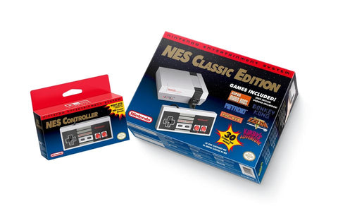 NES Classic Edition w/ 30 Pre-loaded Games & 2 Controls