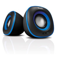 KlipX 2.0 Stereo Speakers  USB/3.5mm - KES-215 Blue