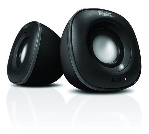 KlipX 2.0 Stereo Speakers USB/3.5mm - KES-215 - Charcoal