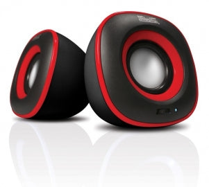 KlipX 2.0 Stereo Speakers USB/3.5mm - KES-215 Red