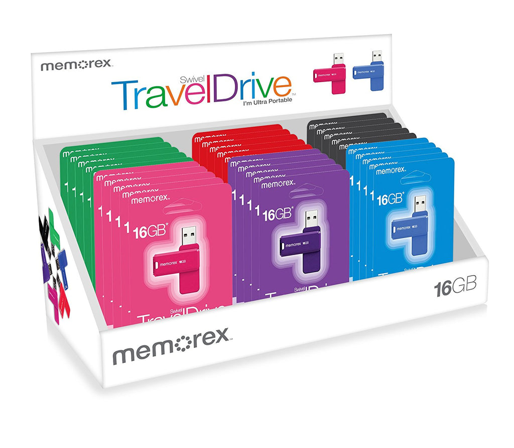 Memorex 16gb Swivel Traveldrive Usb Flash Drive Assorted Onlinebb
