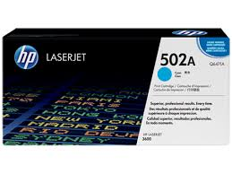 HP 502A Cyan Original LaserJet Toner Cartridge (Q6471A)