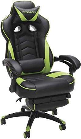 Respawn 110 Racing Style Gaming Reclining Ergonomic Leather Chair w/ Footrest