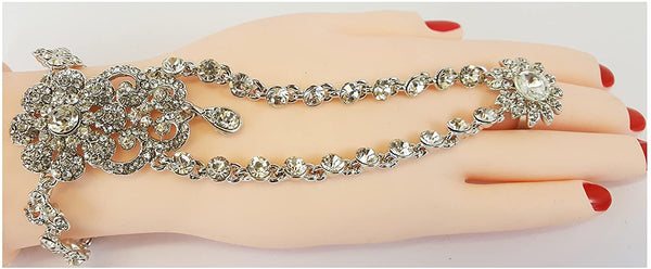 hand panja hand chain bracelet stone panja left right hand silver hp-24 s