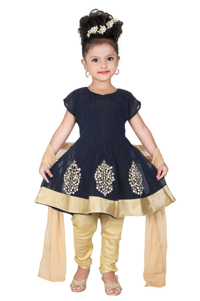 Ethnic Traditional Baby Girl Gown Anarkali Dupatta Suit Salwar Suit Churidar Maxi Legging Dress Wedding Prom Partywear + Leggings