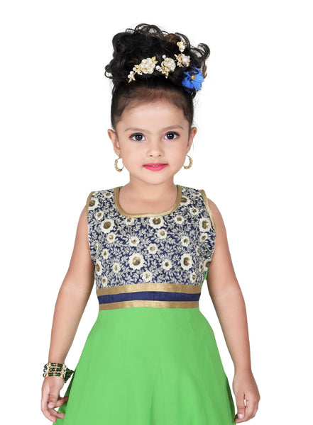 Baby Girl Salwar Suit New Born Infant Frock Suit Churidar Dress Wedding Prom Partywear + Leggings Toddler Ethnic Traditional Dupatta Suit (BGWF-540)