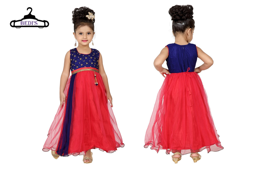 Baby Girl Salwar Suit New Born Infant Frock Suit Churidar Dress Wedding Prom Partywear + Leggings Toddler Ethnic Traditional Dupatta Suit (BGWG-527)