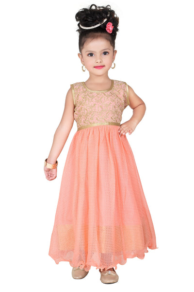 Baby Girl Salwar Suit New Born Infant Frock Suit Churidar Dress Wedding Prom Partywear + Leggings Toddler Ethnic Traditional Dupatta Suit (BGWG-529)