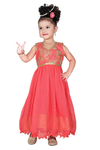 Baby Girl Salwar Suit New Born Infant Frock Suit Churidar Dress Wedding Prom Partywear + Leggings Toddler Ethnic Traditional Dupatta Suit (BGWG-530)