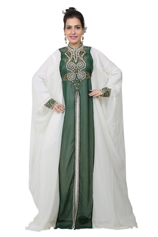BEDI'S UAE STYLE WOMEN'S FARASHA MAXI ARABIC ISLAMIC KAFTAN LONG DRESS - ONE SIZE (KAF-2578)