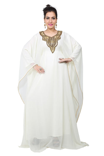 BEDI'S UAE STYLE WOMEN'S FARASHA MAXI ARABIC ISLAMIC KAFTAN LONG DRESS - ONE SIZE (KAF-2798)