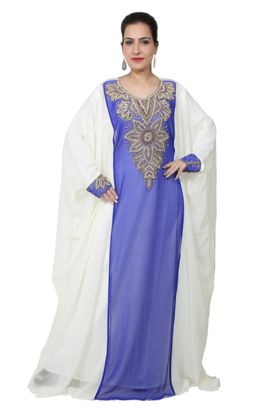 BEDI'S UAE STYLE WOMEN'S FARASHA MAXI ARABIC ISLAMIC KAFTAN LONG DRESS - ONE SIZE (KAF-2934)