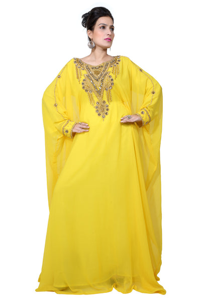 BEDI'S UAE STYLE WOMEN'S FARASHA MAXI ARABIC ISLAMIC KAFTAN LONG DRESS - ONE SIZE (KAF-2963)