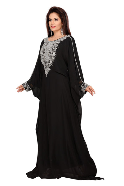 KAFTAN ABAYA FARASHA BEDIS UAE STYLE WOMEN'SMAXI ARABIC ISLAMIC MUSLIM DRESS JILBAB LONG DRESS - ONE SIZE