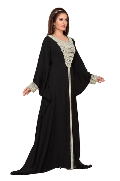 ARABIC ISLAMIC KAFTAN ABAYA FARASHA BEDIS UAE STYLE WOMEN'SMAXI MUSLIM DRESS JILBAB LONG DRESS - ONE SIZE