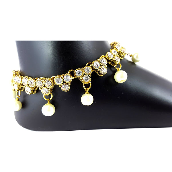 Payal Anklet Indian foot Jewellery bollywood Kundan Feet Chain women ankle chain party wear stone Payal