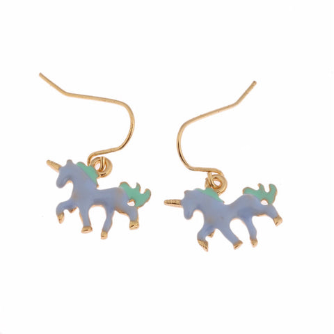 Unicorn Fashion Blue New Earrings 2017