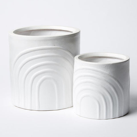 RAINBOW POT SET WHITE