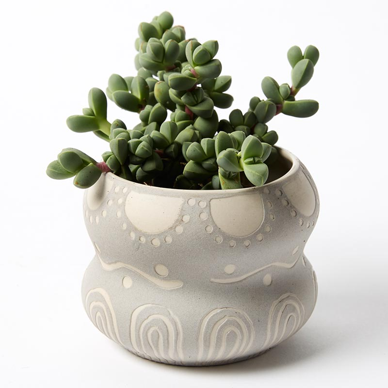 POCKET PLANTER GREY DOUBLE